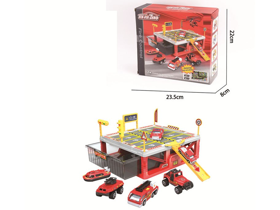 DIE-CAST PARKING LOT SET